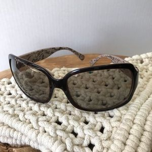 Coach Brown Gray Sunglasses